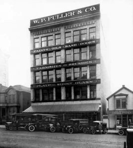 """The W. P. Fuller Building, Tacoma WA. Owner: William Ferguson Architect: C. A. Darmer. """"A building designed especially for the paint and glass business"""""""