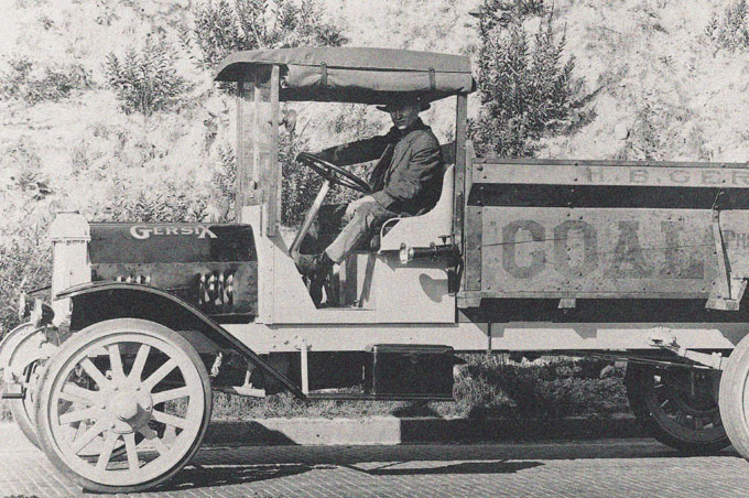 Edgar Worthington's first truck is built, called the Gersix, a six-cylinder built in a repair shop in Portland, Oregon.