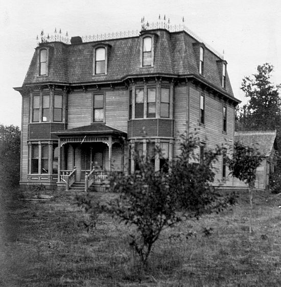 The Worthington Mansion in Quilcene with original Mansard roof