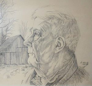 Robert Worthington, sketch done in 1987 by Duane Brink