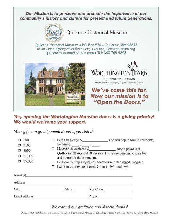 Screenshot of Open the Doors Giving Card