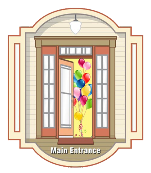 """""""Front Door"""" graphic for the Open the Doors Campaign"""