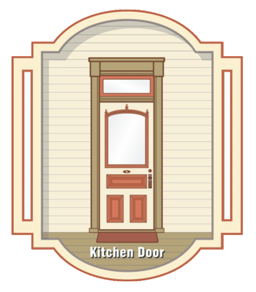 """Kitchen Door"" graphic for the Open the Doors Campaign"