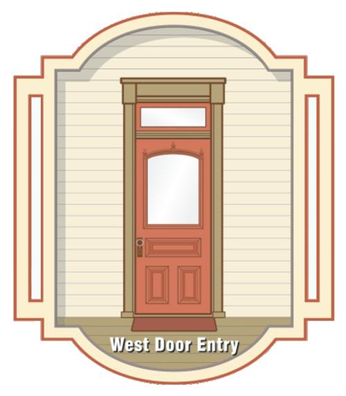 """""""West Door"""" graphic for the Open the Doors Campaign"""