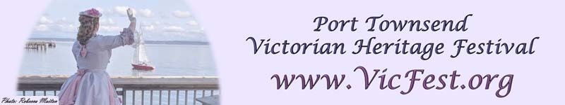 Victorian Heritage Festival calendar event header image - with woman standing on dock waving, as well as the event website address www.vicfest.org