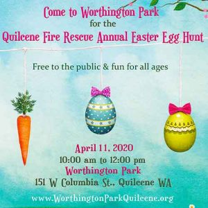 Quilcene Fire Rescue Easter Egg Hunt Poster Promo Image