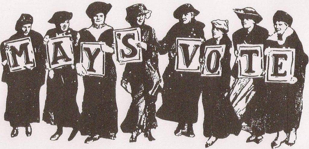 May's Vote Vintage Logo