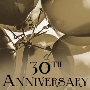 Sepia tone close up photo of balloons tied together, for 30th Anniversary of the Quilcene Historical Museum. Image created by Anne Marie Gibson / Wild Song Design