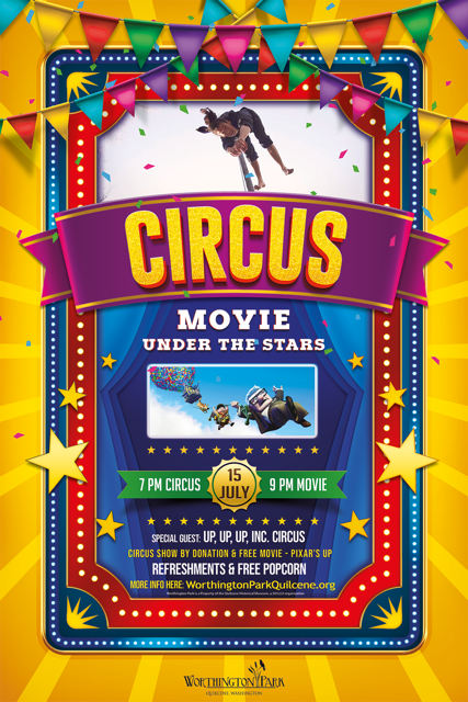 WP Event: Summer Circus and Movie Under the Stars Poster