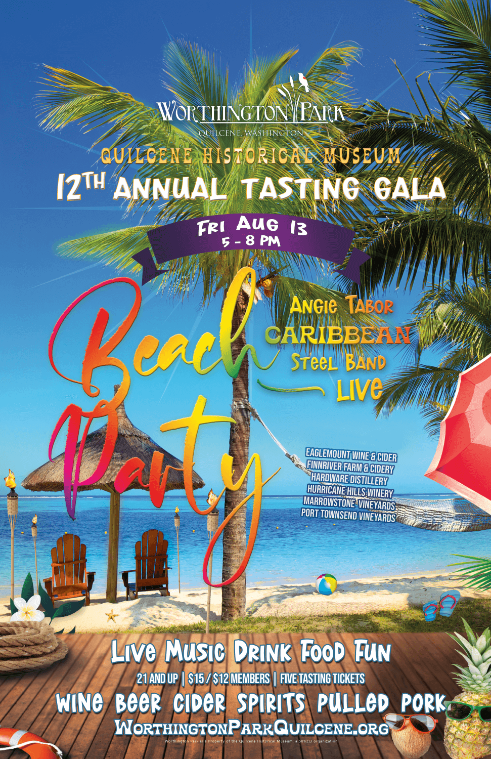 Worthington Park 12th Annual Tasting Gala Poster with event details.
