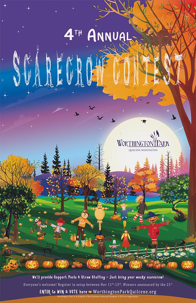 2021 Scarecrow Contest Poster - Worthington Park, Quilcene